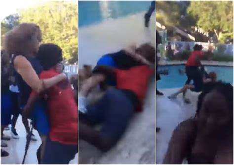 Teen who threw elderly woman into pool turns self in after